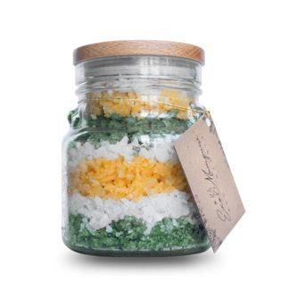 Рапна сіль для ванн з бетакаротином Імбирне асорті