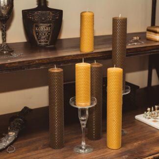 медові свічки з вощини