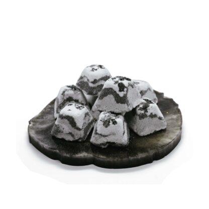 Шипучі таблетки для ванн з чорною глиною