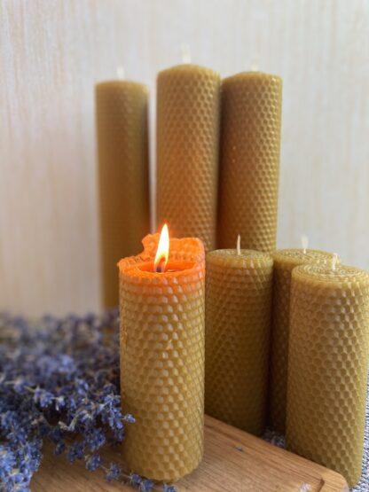 Інтер'єрні медові свічки Натуральні