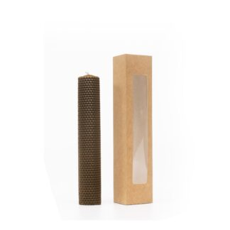 Інтер'єрна медова свічка 26 см в коробці