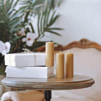 Набір золотих інтер'єрних свічок