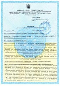 гідролат сертифікат
